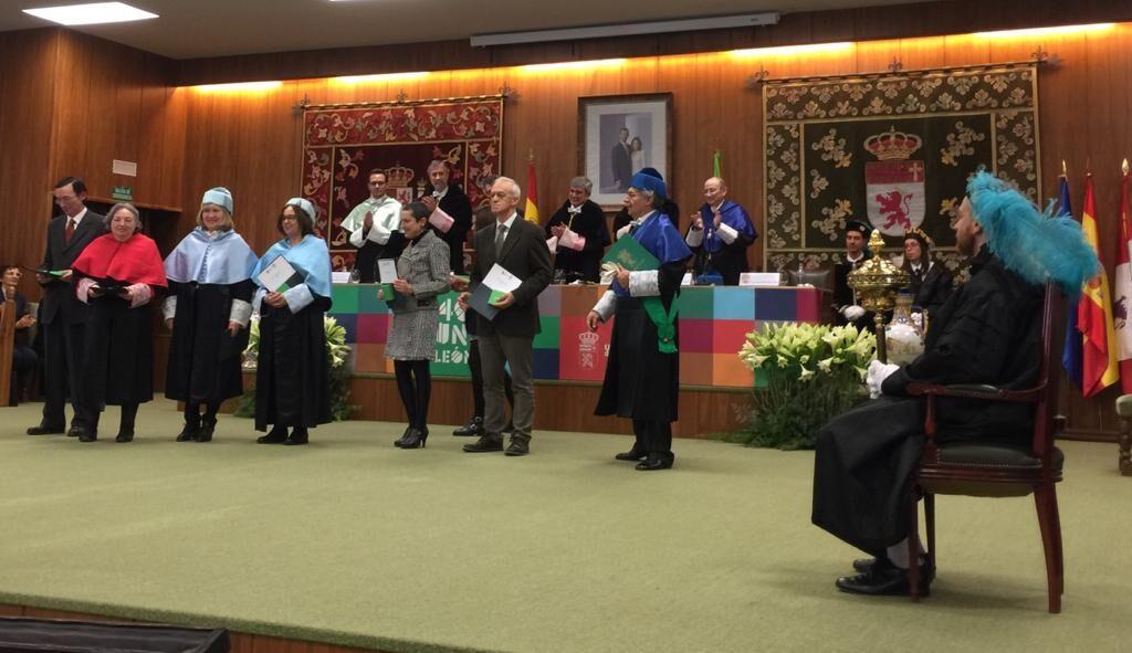 Cristina Jular en el Acto de Reconocimiento del 40 Aniversario UniLeón